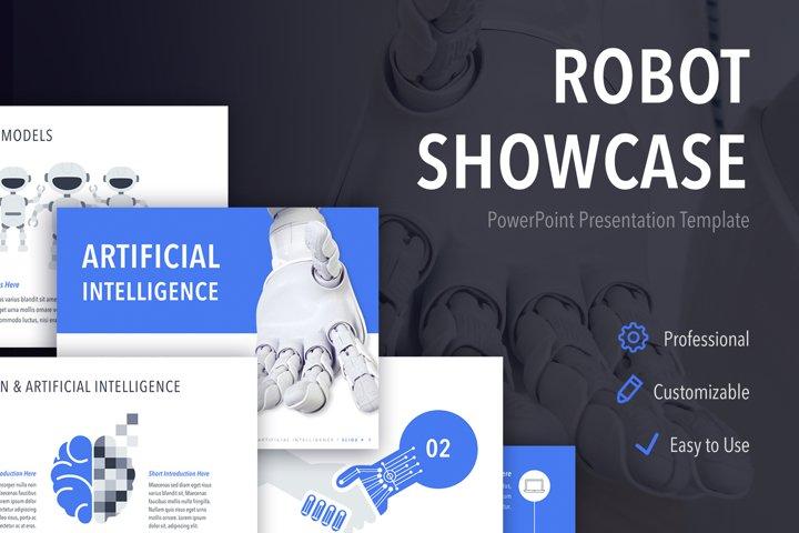 Robot Showcase PowerPoint Template