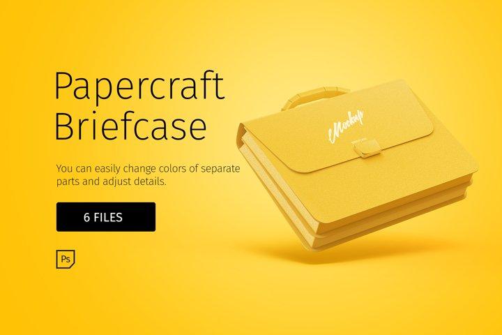 Papercraft suitcase