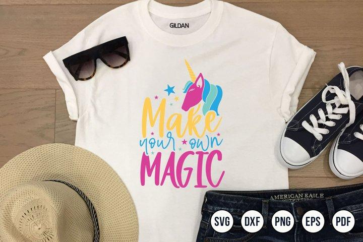 Unicorn SVG, Make Your Own Magic, Unicorn Eyelashes SVG