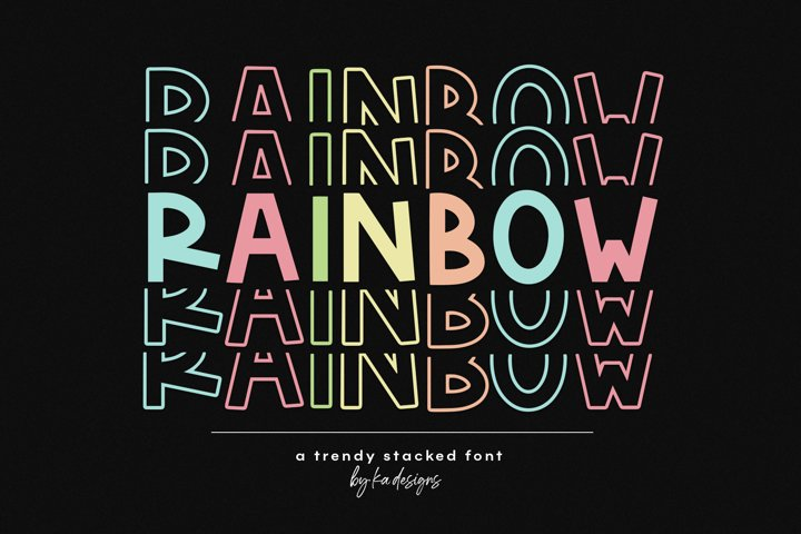 Rainbow - A Fun Stacked Font