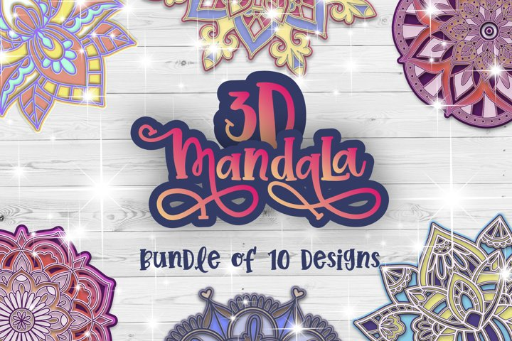 3D Mandala svg bundle Papercut SVG Zentangle