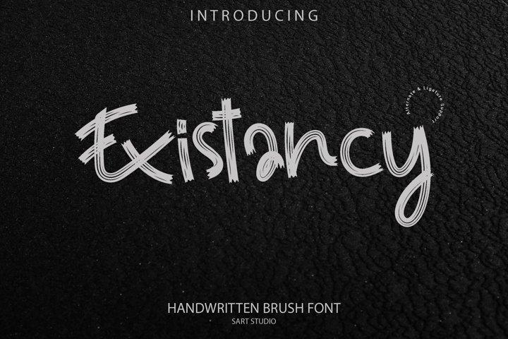 Existancy Brush Font