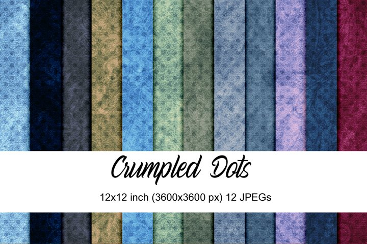 Crumpled dots digital papers