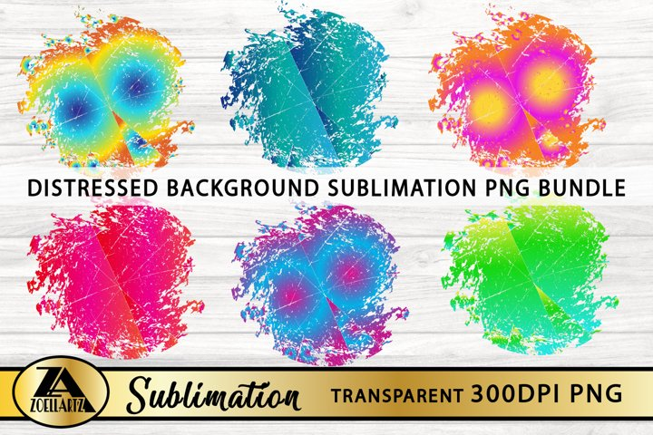 Sublimation Background Bundle-Distressed PNG for Sublimation