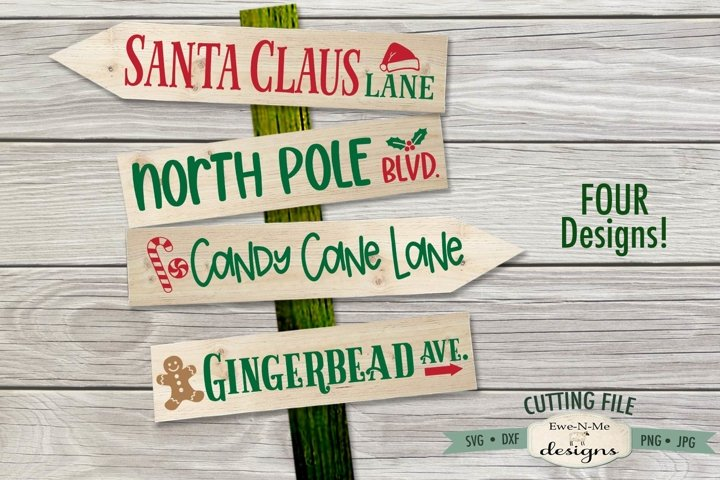 Christmas Street Sign Designs SVG | Christmas SVG