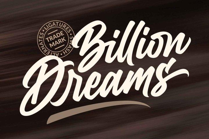 Billion Dreams / Urban Font