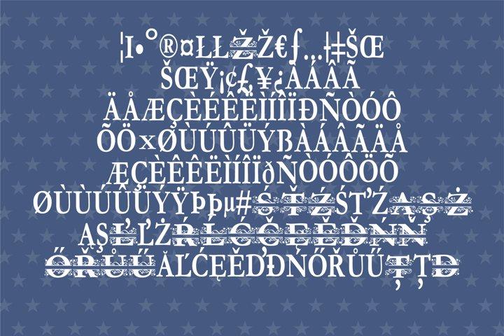 PN Stars & Swirls Monogram Banner Font - Free Font of The Week Design1