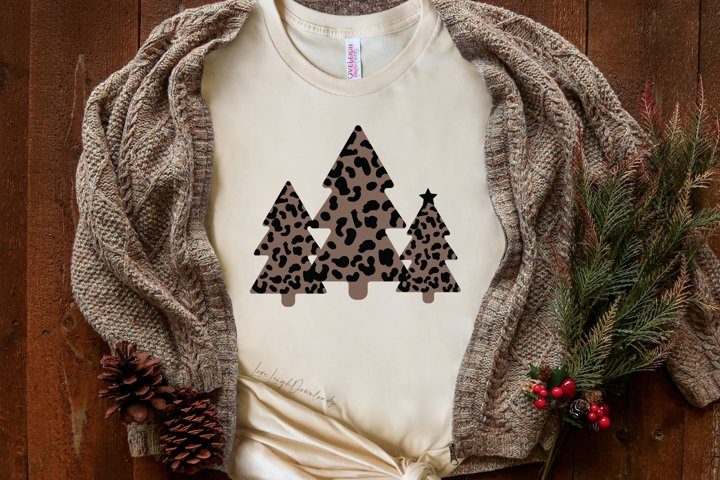 Leopard Print Christmas Tree SVG