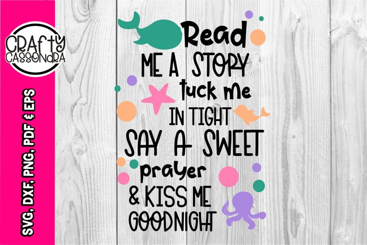 Read me a story - beach - home decor - kids bedroom - quote