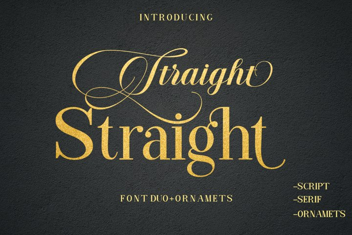 Straight Font Duo Plus Ornament