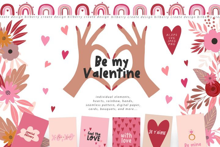 Be my Valentine art set