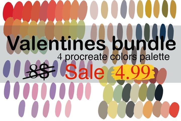 Procreate color palette minimal l Valentine bundle l