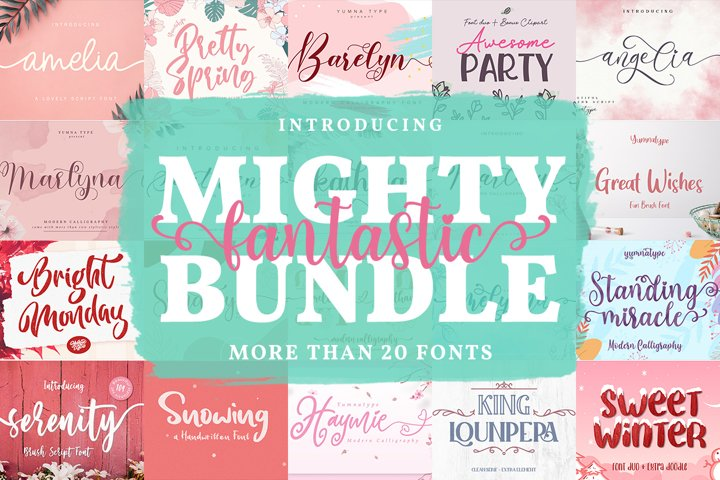 Mighty Font Bundle