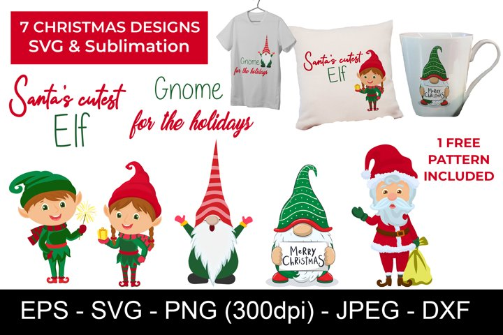 Christmas SVG Bundle - Christmas Sublimation Designs