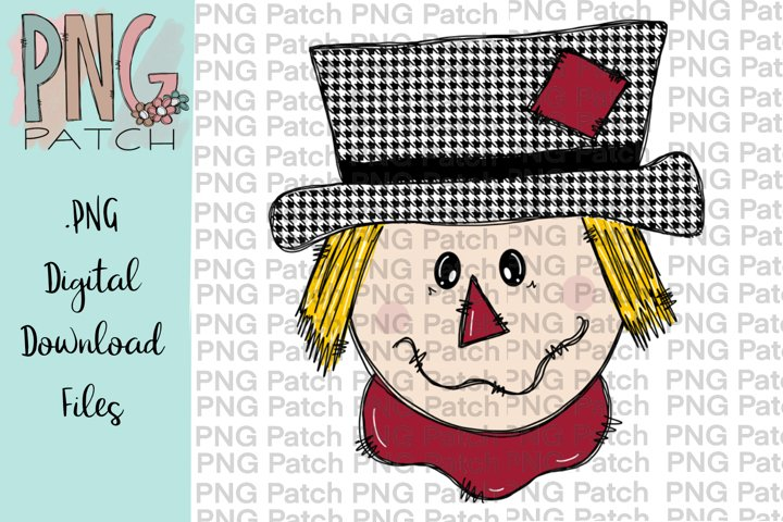 Scarecrow Boy Houndstooth Print, Fall PNG File, Sublimation