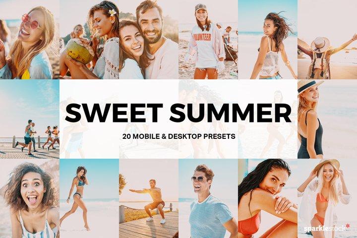 20 Sweet Summer Lightroom Presets and LUTs
