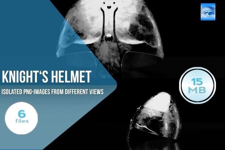 6 Isolated Knights Helmets