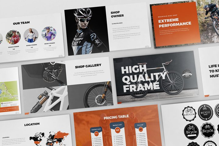 Bicycle Google Slides Template