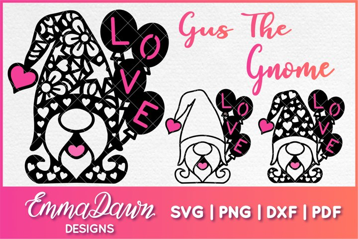 GUS THE GNOME SVG VALENTINES DAY MANDALA ZENTAGLE 3 DESIGNS