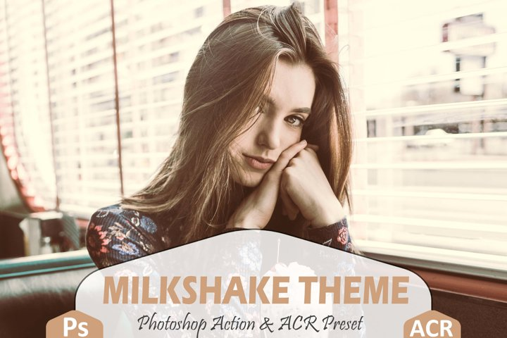 Milkshake Photoshop Action And ACR Presets, Peachy Ps preset example