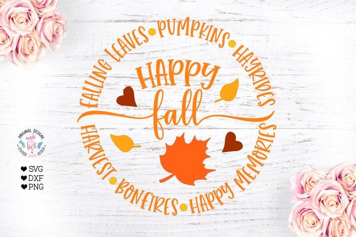 Hello Fall - Circular Sign