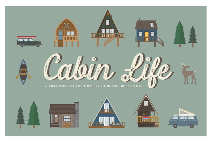 Cabin Life Icon Collection