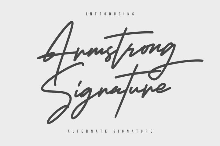Armstrong Signature Font