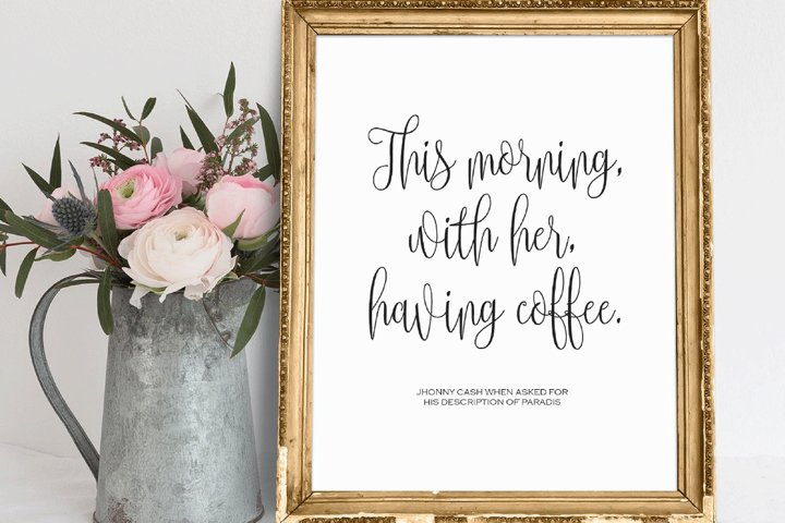 This Morning With Her Having Coffee, PRINTABLE Wall Art