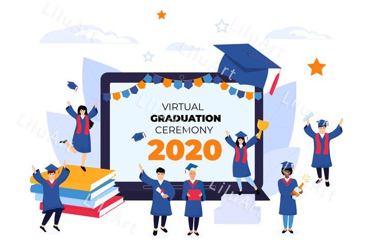 Virtual online graduation ceremony