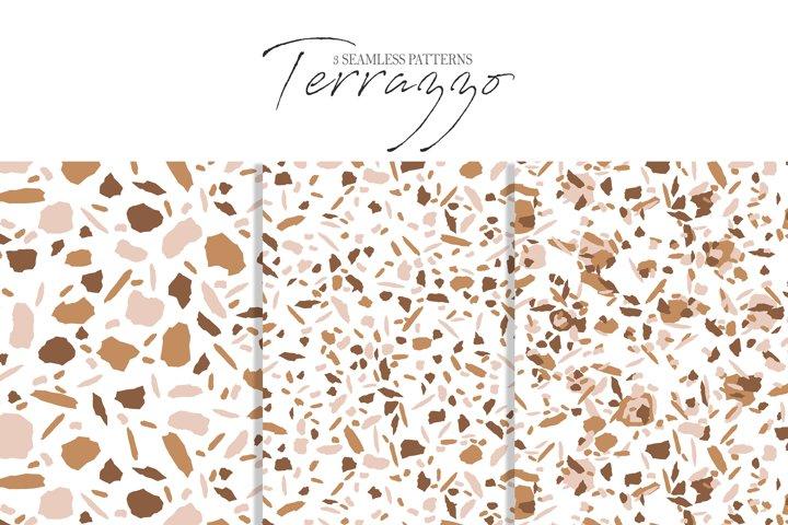 3 Terrazzo seamless patterns| digital paper
