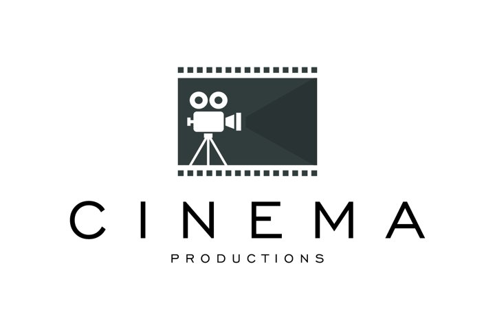 Cinema Logo Design Template Premium