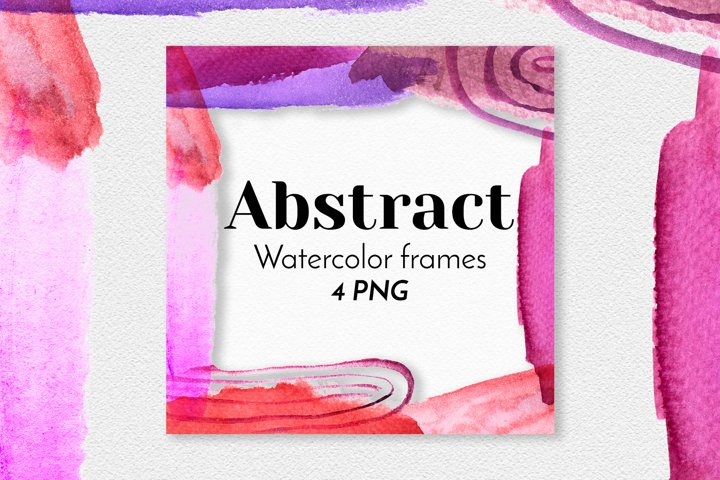 Watercolor abstract square frames