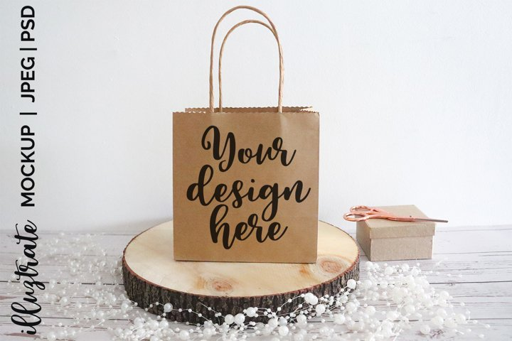 Gift Bag Mockup - Styled Stock Photography - Mockup Design