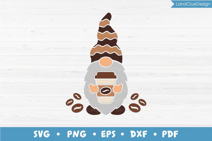 Coffee Gnome, Coffee Lover SVG PNG DXF EPS PDF