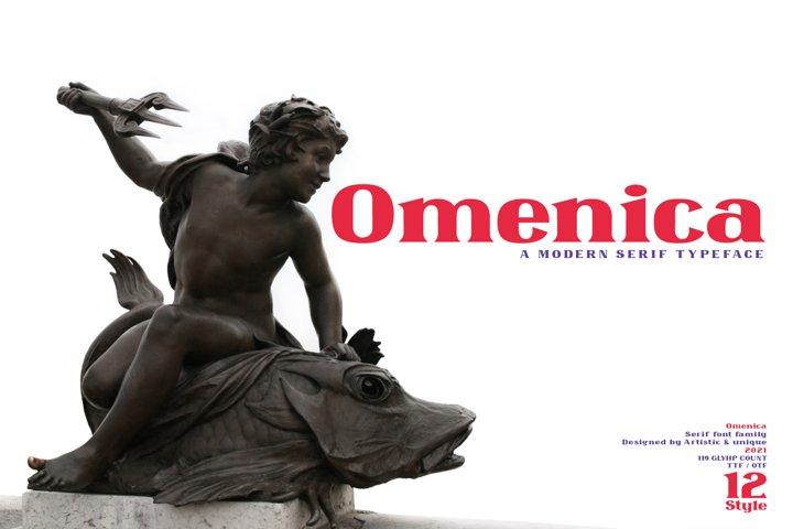 Omenica - Serif font Family