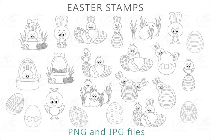 Easter Digital Stamps