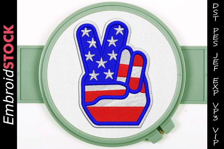 Peace Hand U.S. Flag