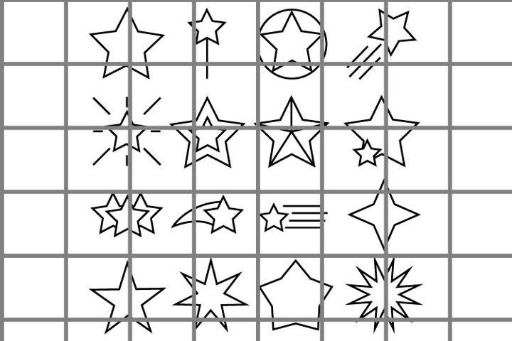 Star SVG set for cut