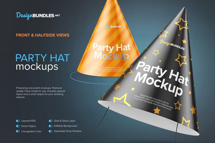 Party Hat Mockups