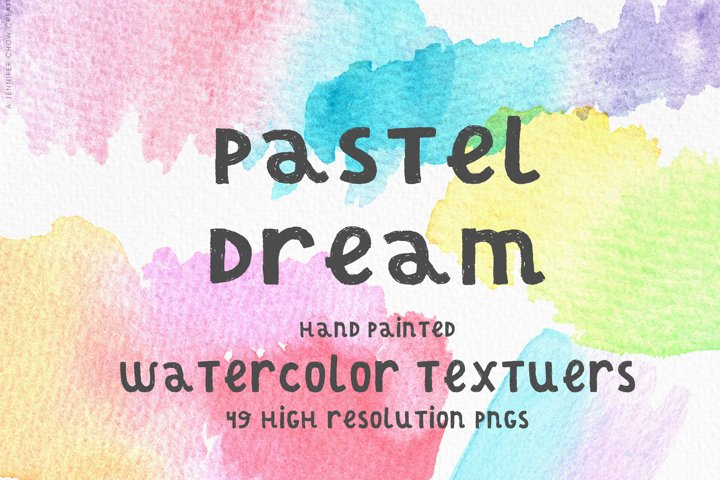 Pastel Dream Watercolor Textures