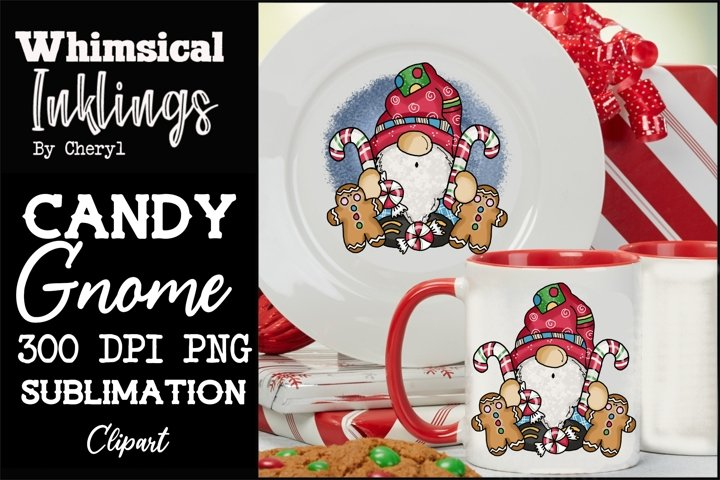 Candy Gnome Sublimation Clipart