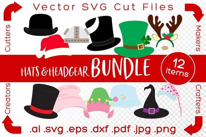 Hats and Headgear Bundle SVG Cut Files for Crafters & Makers