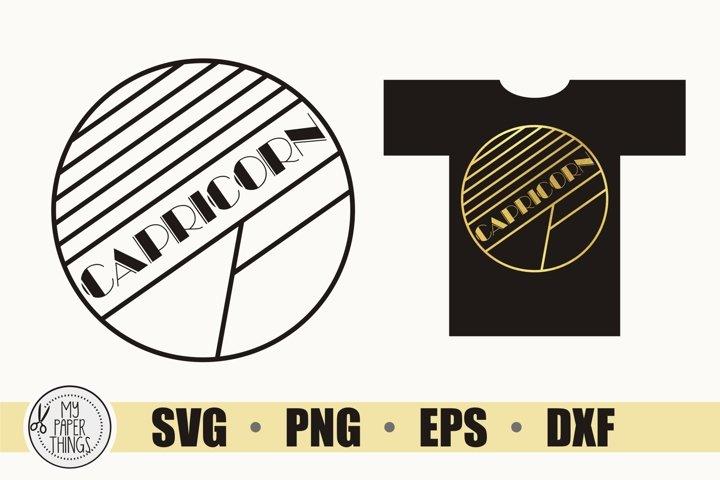 Capricorn SVG, Art Deco svg, Zodiac svg, Birthday svg