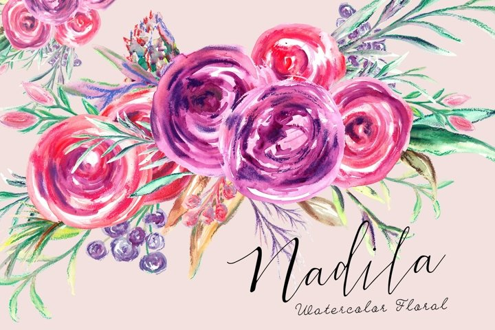 Nadila Watercolor Florals