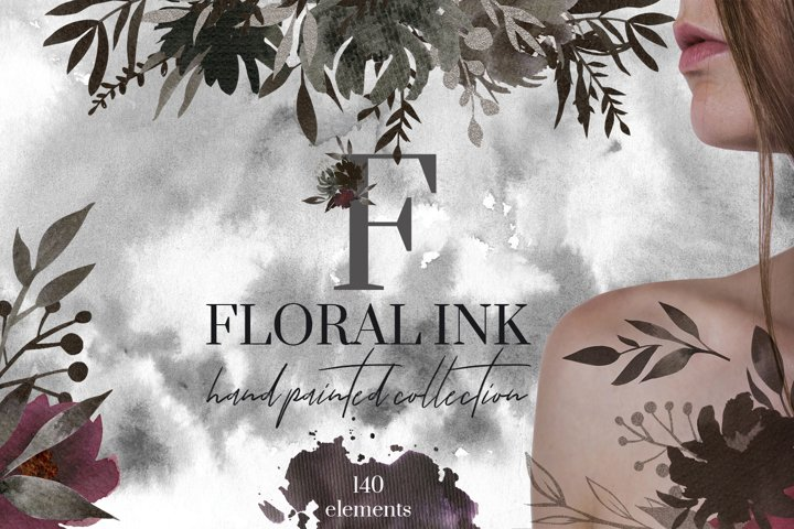 Floral Ink Hand Painted Collection