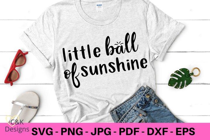 Little Ball of Sunshine SVG