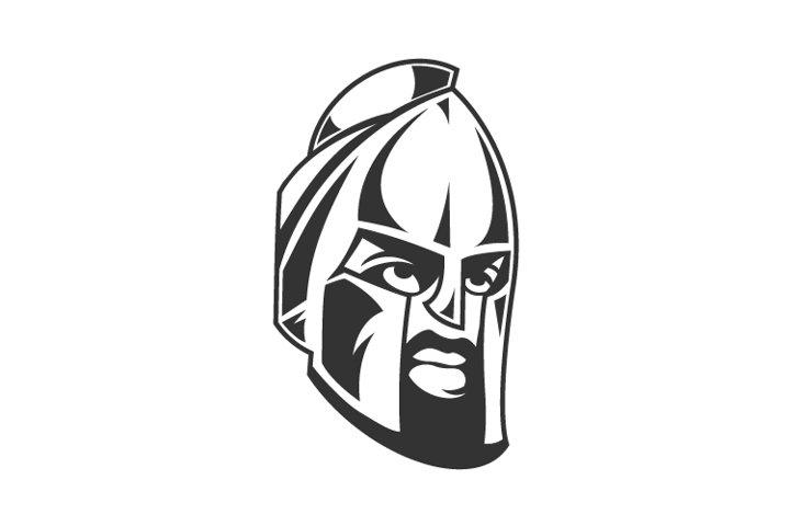 Spartan Warrior Helmet Logo