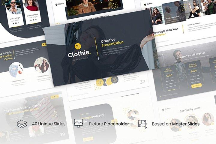 Clothie - Creative Business Google Slides Template