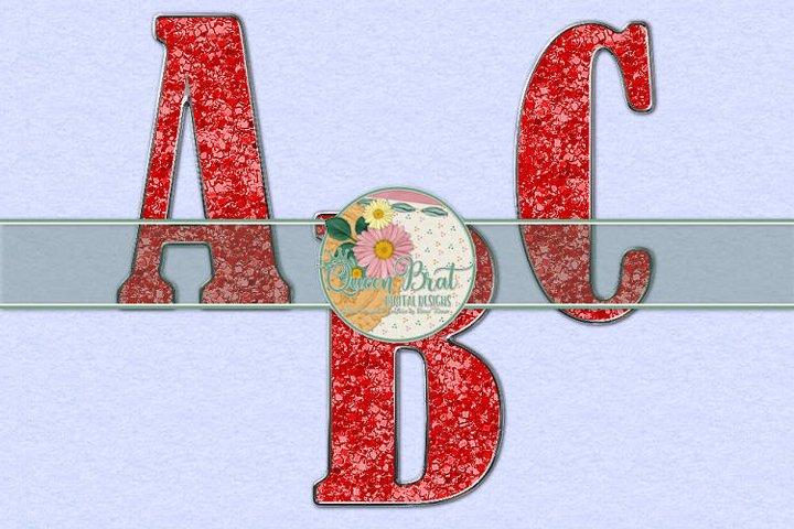 Freedom Alphabet Red Glitter