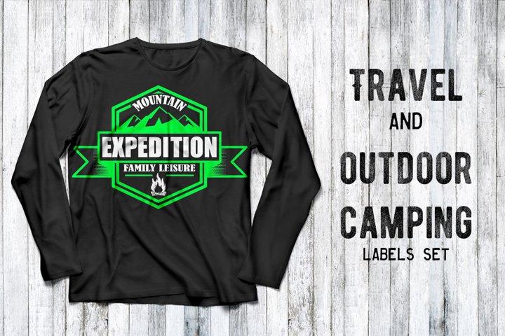 Outdoor and travel logo vector bundle
